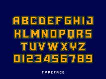 Sport font. Vector alphabet with latin letters and numbers.  Stock Photos