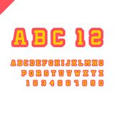 Sport font. Vector alphabet with latin letters and numbers. Sport font. Vector alphabet with latin letters and numbers whith bold stroke Royalty Free Stock Image
