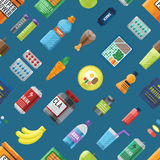 Sport food seamless pattern. Stock Images