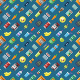 Sport food seamless pattern. Royalty Free Stock Images