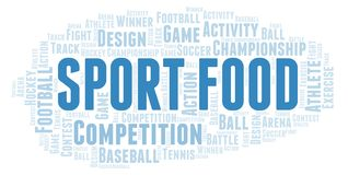 Sport Food word cloud. Wordcloud made with text only vector illustration