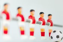 Sport foosball player table soccer Royalty Free Stock Photo