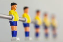 Sport foosball player table soccer Stock Photo