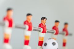 Sport foosball player table soccer Royalty Free Stock Image