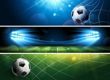 Soccer Banners. Vector Royalty Free Stock Photos