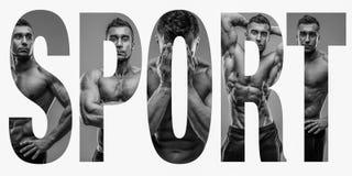 Sport fotografie w postaci słowo sporta Fotografia Stock