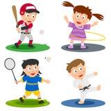 sport för 2 samlingsungar Arkivbild