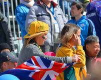 Sport funs of Australia Team with national flags Stock Image