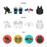 Sport, game, paintball, competition .Paintball set collection icons in cartoon,outline,flat style vector symbol stock. Illustration Royalty Free Stock Photos