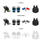 Sport, game, paintball, competition .Paintball set collection icons in cartoon,outline,monochrome style vector symbol. Stock illustration Royalty Free Stock Images