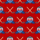 Sport game vector hockey team play tournament label champion emblem league competition seamless pattern background. Sport game vector hockey team play tournament royalty free illustration