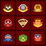 Sport game vector team logo play tournament label champion emblem league competition symbol athletic championship club. Sport game vector team logo play royalty free illustration