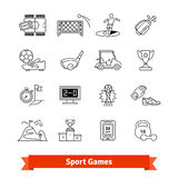 Sport games and Award thin line art icons set Stock Images