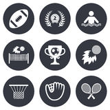 Sport games, fitness icon. Football, golf Stock Photo