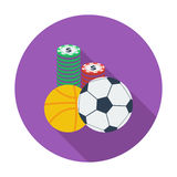 Sport games. Flat vector icon for mobile and web applications. Vector illustration royalty free illustration