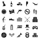 Sport games icons set, simple style. Sport games icons set. Simple set of 25 sport games vector icons for web isolated on white background Royalty Free Stock Images