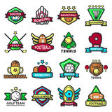 Sport games icons vector templates Royalty Free Stock Photos