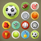 Sport, games and leisure. Long shadow icons set Stock Photo