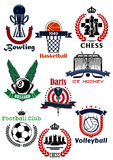 Sport games symbols and icons set Royalty Free Stock Photos