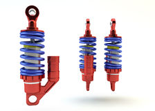 Sport Gas shock absorbers isolated Royalty Free Stock Images