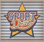 Sport-Getränk-Aufkleber Lizenzfreie Stockfotos