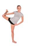 Sport girl balances Stock Image