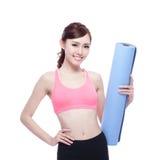 Sport girl do yoga Stock Images