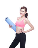 Sport girl do yoga Royalty Free Stock Photography