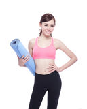 Sport girl do yoga Royalty Free Stock Photography