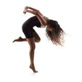 Sport girl doing exercise stock image