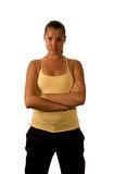 Sport girl isolated Royalty Free Stock Photos