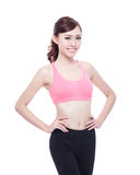 Sport girl isolated Stock Photography