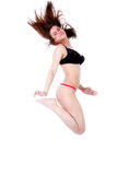 Sport girl jumping Royalty Free Stock Photography