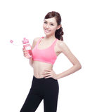 Sport girl with water Stock Photos