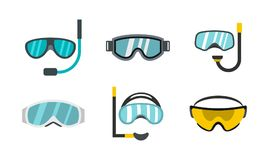 Free Sport Glasses Icon Set, Flat Style Royalty Free Stock Images - 108195139