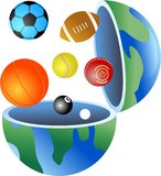 Sport globe royalty free illustration