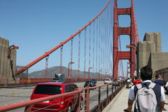 Sport on Golden Bridge in San Francisco Royalty Free Stock Image