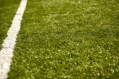 Sport Grass Field with Line Stock Photography