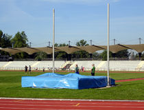 Sport ground. Track and field training ground Royalty Free Stock Image
