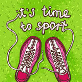 Sport Gumshoes Poster Royalty Free Stock Image