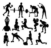 Sport Gym Activity Silhouettes Royalty Free Stock Photo
