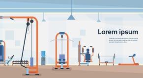 Sport Gym Interior Workout Equipment Copy Space Stock Photos