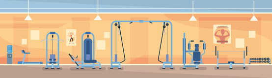 Sport Gym Interior Workout Equipment Stock Image