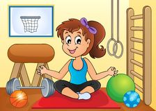 Sport and gym theme image 2. Eps10 vector illustration Stock Image