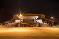 Sport hall, Slavonski Brod, Craotia. Sport hall at night, Slavonski Brod, Croatia april 29, 2018 royalty free stock photo