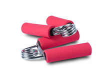 Sport Hand Grip Equipment isolated on white with clipping path. Red Sport Hand Grip Equipment isolated on white with clipping path Royalty Free Stock Photo