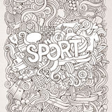 Sport hand lettering and doodles elements Stock Photo