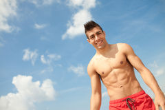 Sport and health body of young man Stock Photography