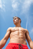Sport and health body of young man Royalty Free Stock Photos