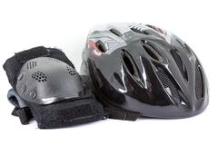 Sport helmet and protectors Royalty Free Stock Image
